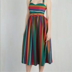 Modcloth Unicorn Rare Rainbow Pinup Vintage Dress